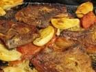 ليدي - شرائح اللحم والخضار في الفرن