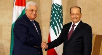 عون وعباس: السلام لن يتحقق دون منح الفلسطينيين حقوقهم العادلة