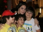 ديانا حداد تفطر مع أيتام الهلال الأحمر الإماراتي