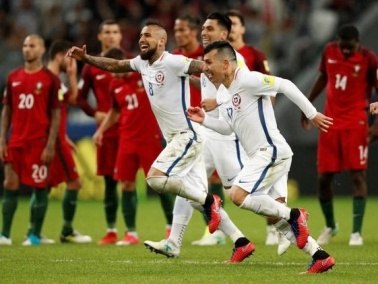 برافو يقود تشيلي لقهر البرتغال في مباراة ماراثونية بكأس القارات