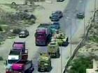 فيديو: قائد مدرعة يحبط عملية إرهابية كبرى بسيارة مفخة في العريش بمصر