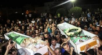 الآلاف يشاركون في تشييع جثامين الشبّان الثلاثة من أم الفحم منفذي عملية القدس