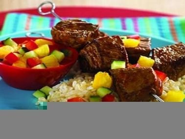 لليلة رأس السنة،  لحم مشوي بقطع الأناناس