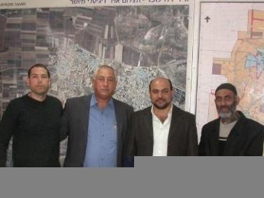 عضوالكنيست مسعود غنايم يجتمع مع رئيس مجلس الجديدة