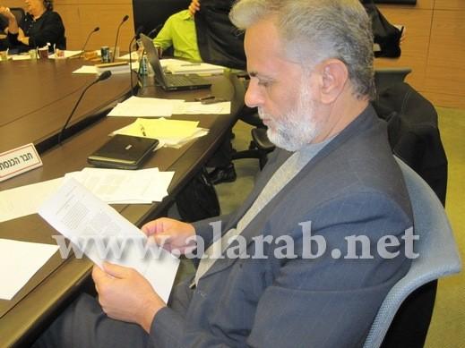 لجنة الداخلية تبحث بناء على طلب الشيخ إبراهيم صرصور