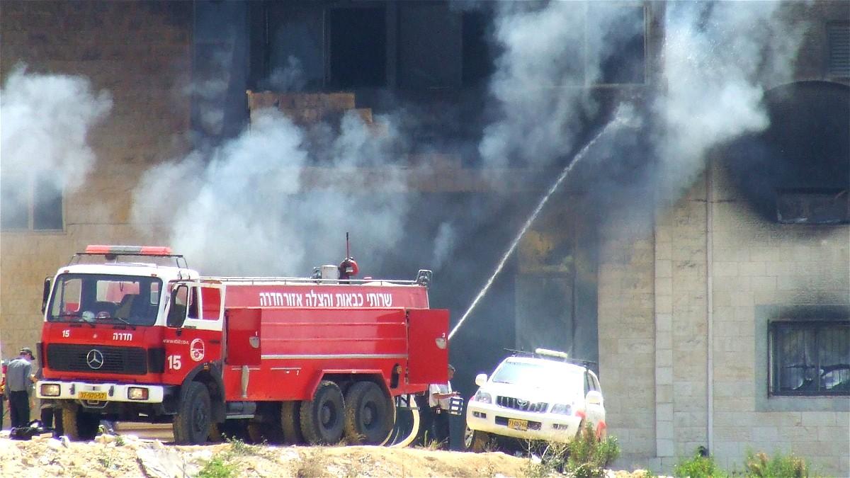 توتر في أم الفحم: إحراق منازل