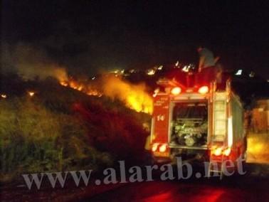 مجهولون من الناصرة يلقون الحجارة على قوات الاطفاء