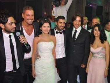 دياب يغادر زفاف المخرج سامي بسبب تامر