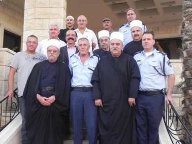 قيادة شرطة الجليل تزور الشيخ موفق طريف مهنئة بالعيد