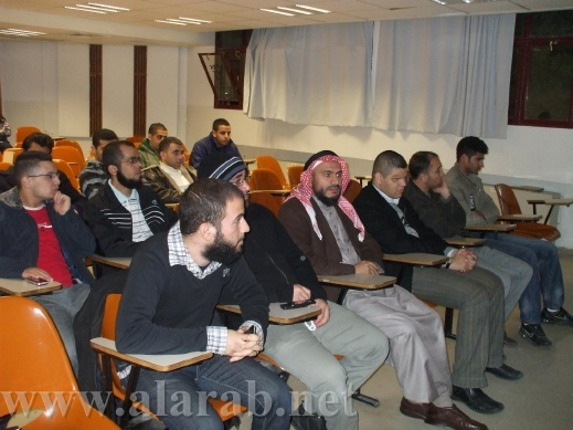 الشيخ حمّاد أبو دعابس يحاضر في الجامعة العبرية