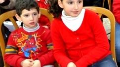 كنيسة البشارة للاتين في الناصرة تحتفل مع الأطفال