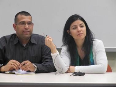 شلبي وشبيطة مع الجبهة الطلابية بالجامعة العبرية