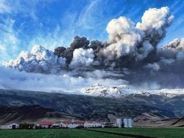بركان ايسلندي يتسبب بإغلاق المجال الجوي