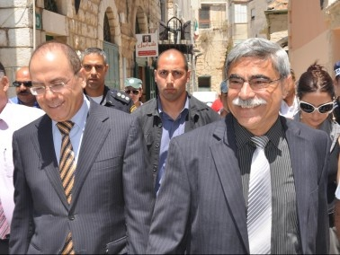 الوزير سيلفان شالوم في مدينة الناصرة