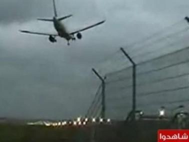 محاولة هبوط لطائرة ركاب المانية مخيف جداً!