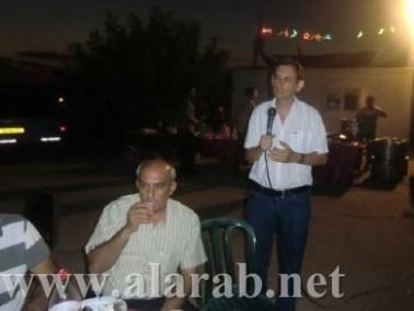 أعضاء اللجنة الشعبية في اللد في زيارة لخيم الاعتصام