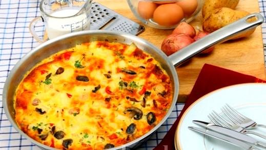 فطور اليوم:اومليت اسباني كتير لذيذ صحتين وعافية