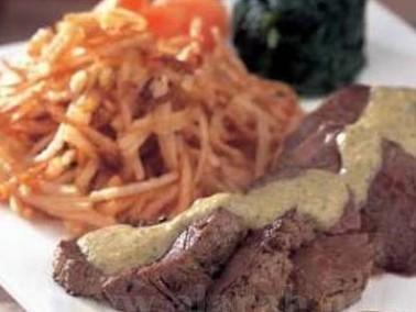 شرائح اللحم مع صلصة الأعشاب تذوقوا طعمها