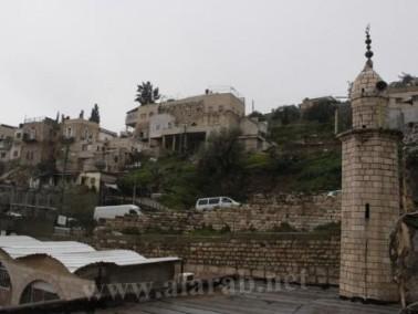 إنهيار ترابي آخر بجوار مسجد عين سلوان