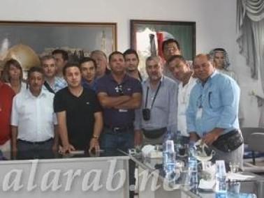 نائب رئيس بلدية أريحا يستقبل وفد أرجنتيني