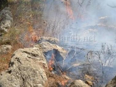اعتقال 3 شبان من الحسينية على خلفية إشتعال النيران