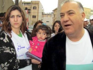 توزيع النشرة الانتخابية لناصرتي برئاسة علي سلام