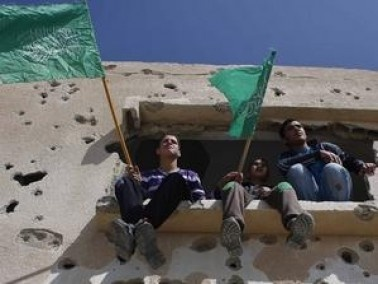 حماس تتظاهر عند معبر رفح