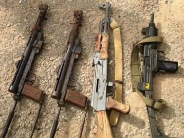 العثور على اسلحة قرب نادي تدريب الرماية قرب راس العين