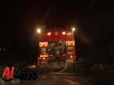 قوات الاطفاء تخمد حريقا في احراش كفرقرع
