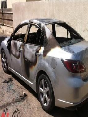 إحراق سيارة أحد موظفي مجلس جت المحلي