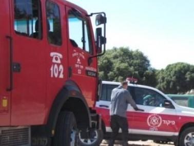 إندلاع حريق في بلدة في هضبة الجولان