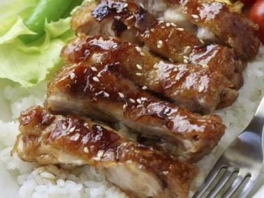 دجاج مشوي بصلصة الترياكي والعسل الشهي