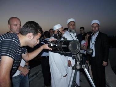 تحري هلال رمضان في المرصد الفلكي في اكاديمية القاسمي