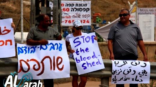 كرميئيل: تظاهرة ضد العدوان على غزة