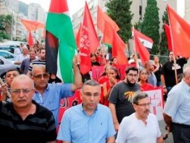 مظاهرة حاشدة في حيفا لنصرة غزة وضد إرهاب داعش