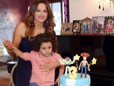 صورة: باسكال مشعلاني تحتفل بعيد ميلاد ابنها