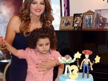 باسكال مشعلاني تحتفل بعيد ميلاد إبنها إيلي الثالث