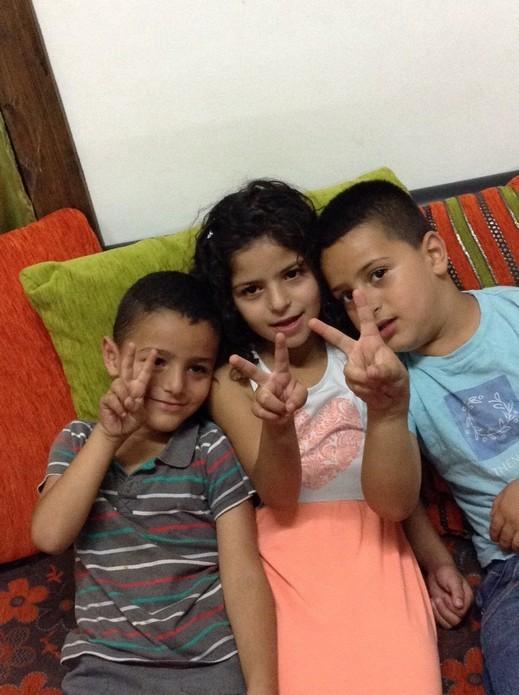 الأطفال الحلوين:سنيال وايهم واويس يوسف محاميد