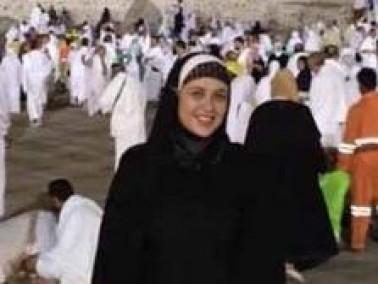 الفنانة ياسمين عبدالعزيز تؤدي فريضة الحج