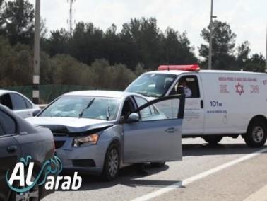 ثلاث اصابات احداها بالغة الخطورة قرب مفرق فيرد