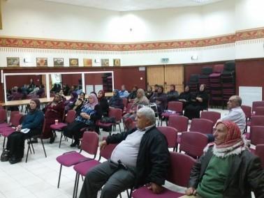 متقاعدو دبوريه يستمعون لمحاضرة عن الوصية والميراث