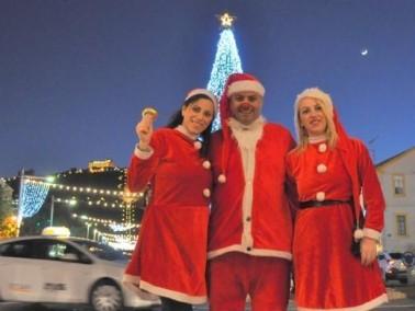بابا نويل يزور بيت المسن في نوف هجيفن حيفا