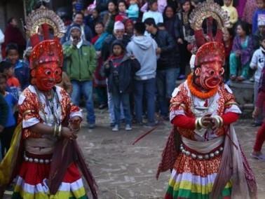 مهرجان الرقص التقليدي في نيبال