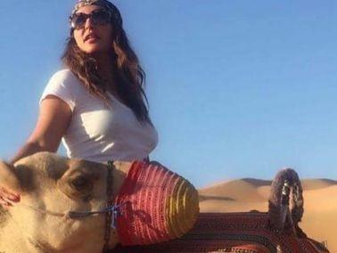 صور: شذى حسون تستمتع برحلتها في الصحراء