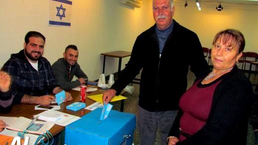الناصرة: توافد العشرات الى صناديق الإقتراع
