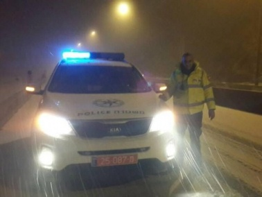 اغلاق شارع 89 بالقرب من بلدة حرفيش بسبب تساقط الثلوج