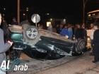 ديرحنا: إصابة شخصين في حادث طرق مروع بين سيارتين على شارع 805