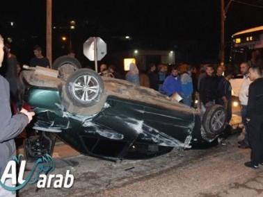 ديرحنا: إصابة شخصين في حادث طرق مروع