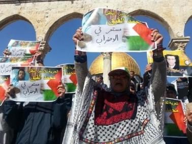 وقفة تضامنية مع الأسير محمد القيق في الاقصى
