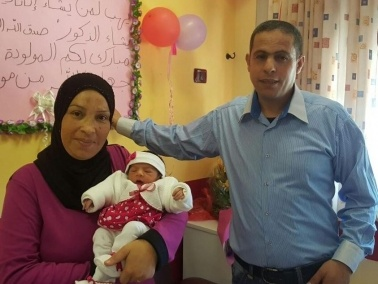 كفرمندا: ولادة الطفلة نور موفق عزام بعد 20 عامًا